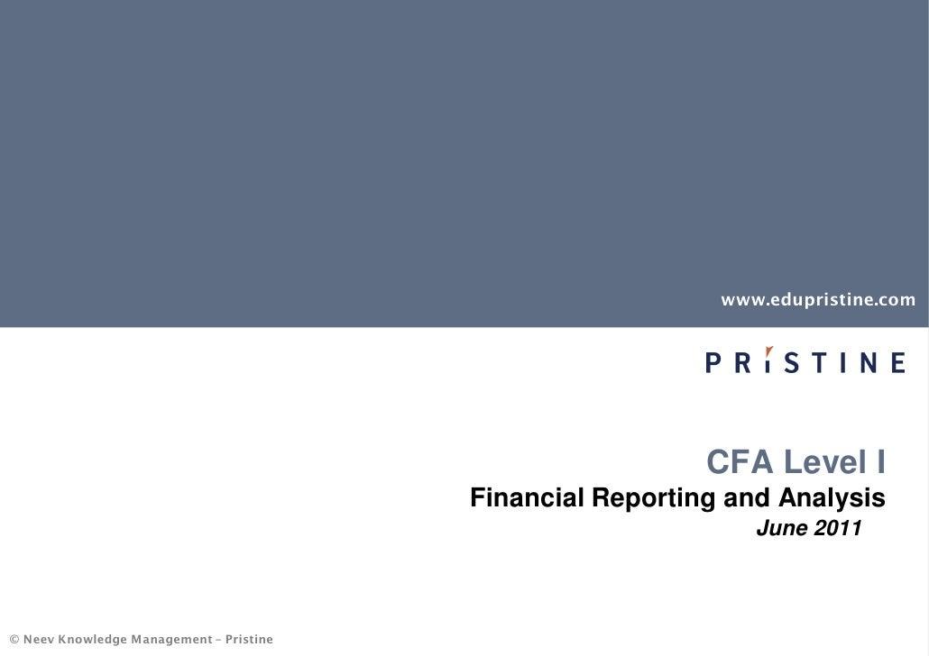 FSA tips for CFA Preparation by Pristine