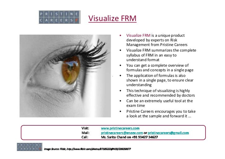 Visualize FRM                                                                •     Visualize FRM is a unique product      ...