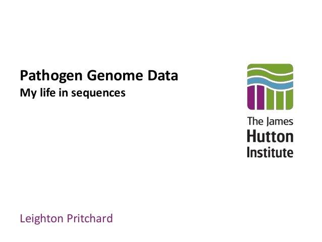 Pathogen Genome Data My life in sequences Leighton Pritchard