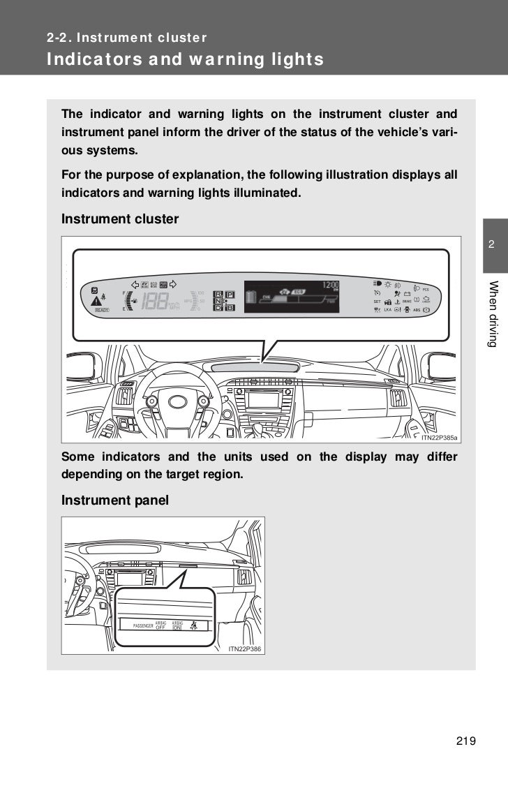 2012 toyota prius gauges rh slideshare net 2012 toyota prius v repair manual 2012 toyota prius repair manual