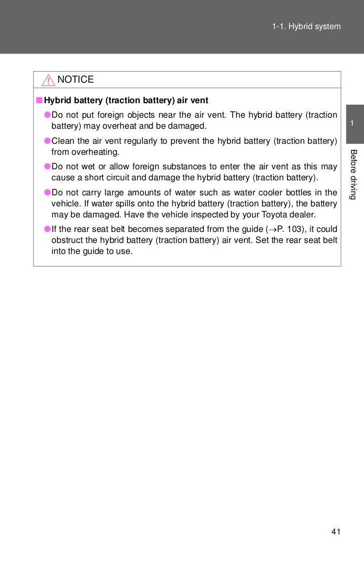 2012 Toyota Prius Hybrid System 2010 Battery 12