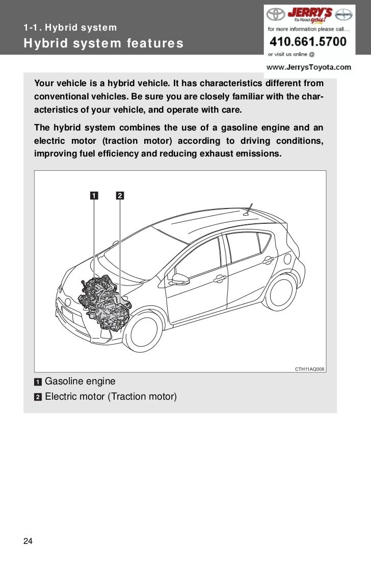Hybrid systemHybrid system features Your vehicle is a hybrid vehicle.