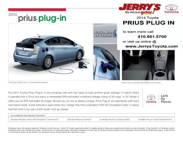2014  prius plug-in  Prius Plug-in Hybrid shown in Clearwater Blue Metallic.  Interior shown with Dark Gray SofTex®-trimme...