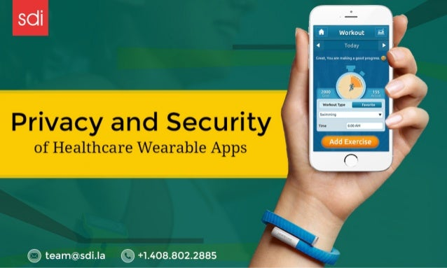 """Privacy and Security of Healthcare Wearable Apps  >'. :<« iianiuic-: ii. ~w'ii. r=.  . i """"L. 'a~'i: «.. :i~ t: ... :l= f:l..."""