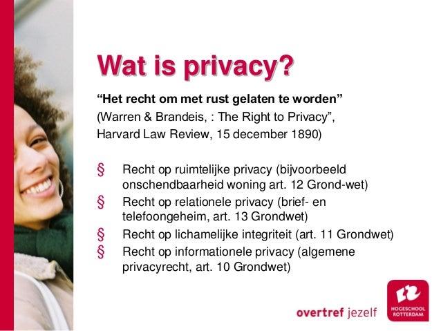 privacy en recht
