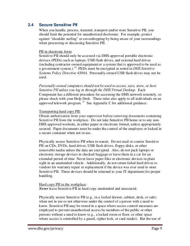 Privacy Safe Guarding Sensitive Pii Handbook 2013