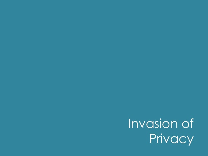 Invasion Of Privacy Defined Medical