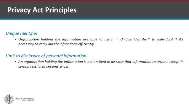 "Unique Identifier  Organization holding the information are able to assign "" Unique Identifier"" to individual if it's nec..."