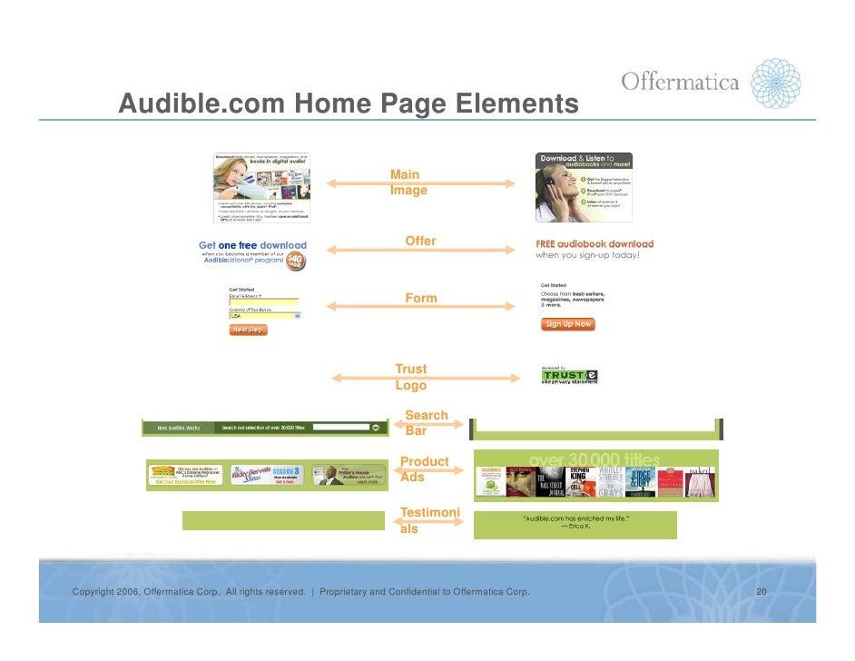 Audible.com Home Page Elements                                                                           Main             ...