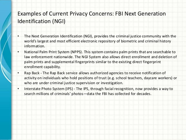 Privacy Implications of Biometric Data - Kevin Nevias