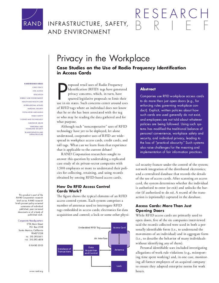 Privacy in the Work Place