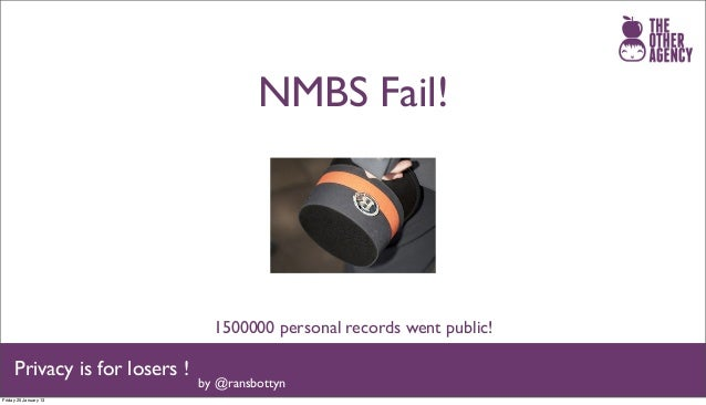 NMBS Fail!                                 1500000 personal records went public!     Privacy is for losers !              ...