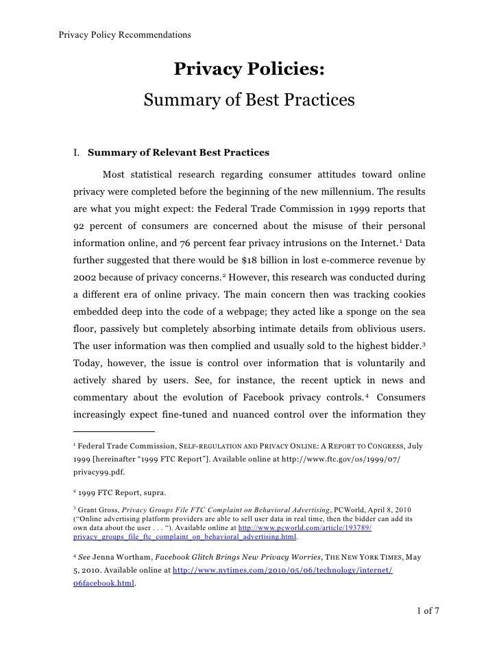 Privacy Policy Primer