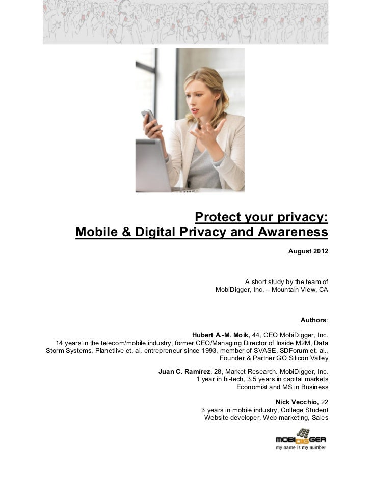Protect your privacy:         Mobile & Digital Privacy and Awareness                                                      ...