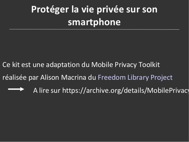 Kit pour protéger ses données personnelles en bibliothèque Slide 2