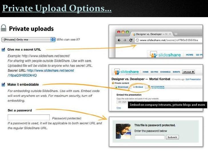 Privacy Options on SlideShare