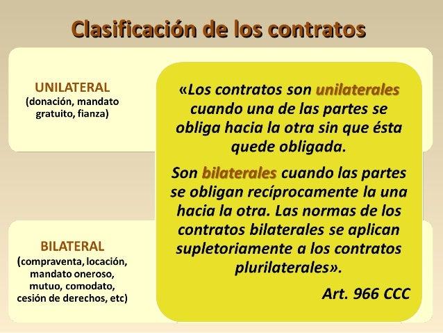 Clasificación de los contratosClasificación de los contratos