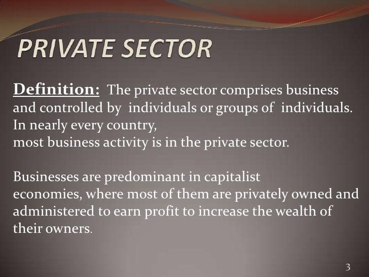 Private sector enterprises