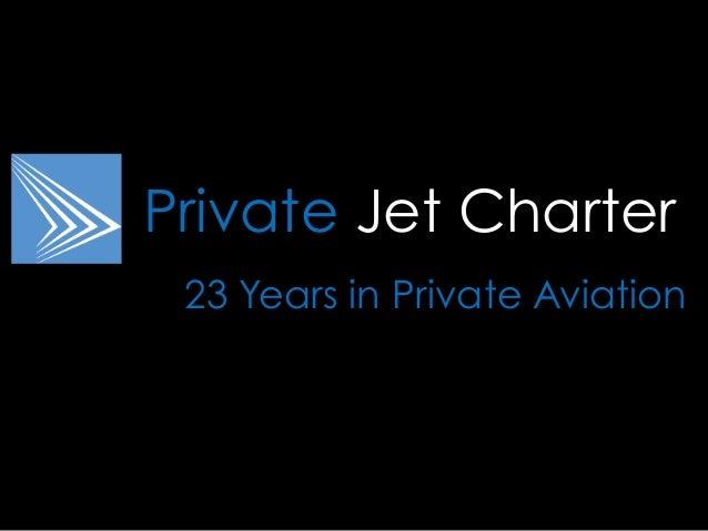 Private Jet Charter Brochure 2014