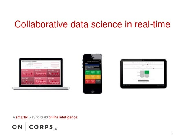 Collaborative data science in real-time 1 A smarter way to build online intelligence ©