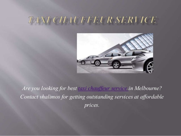 Are you looking for best taxi chauffeur service in Melbourne? Contact vhalimos for getting outstanding services at afforda...