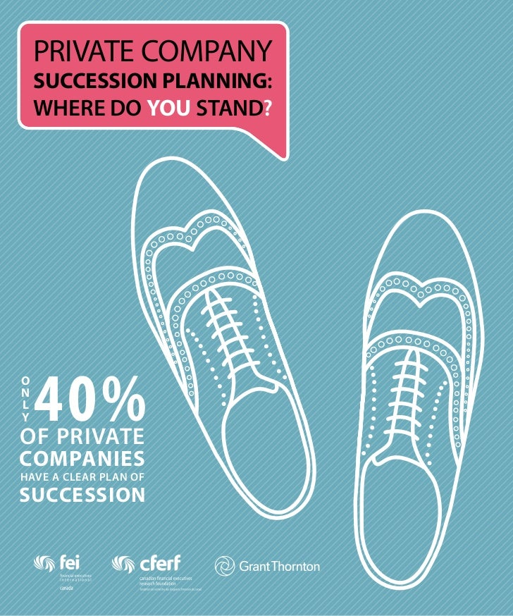 PRIVATE COMPANY    SUCCESSION PLANNING:    WHERE DO YOU STAND?    40%ONLYOF PRIVATECOMPANIESHAVE A CLEAR PLAN OFSUCCESSION