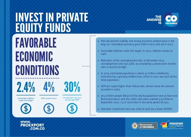 INVEST IN PRIVATE EQUITY FUNDS  FAVORABLE ECONOMIC CONDITIONS  •	 Macroeconomic stability and strong economic performance ...