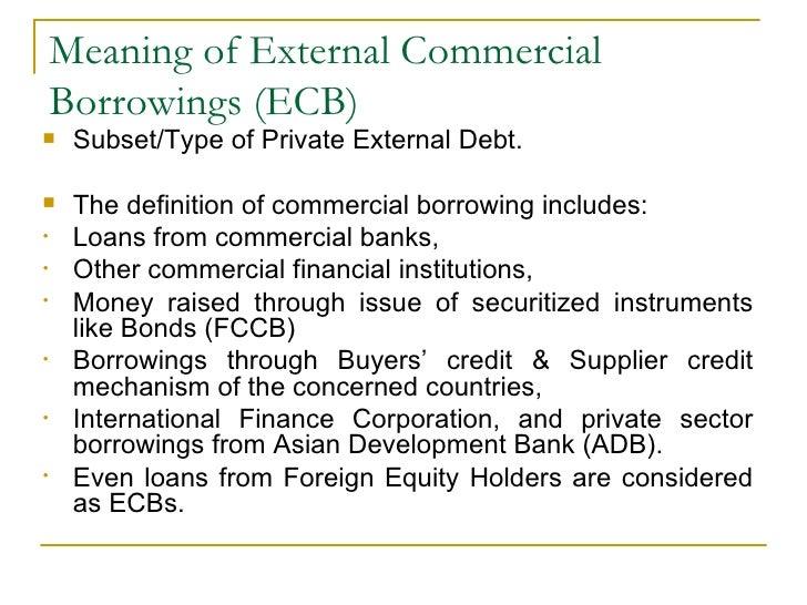 External commercial borrowing