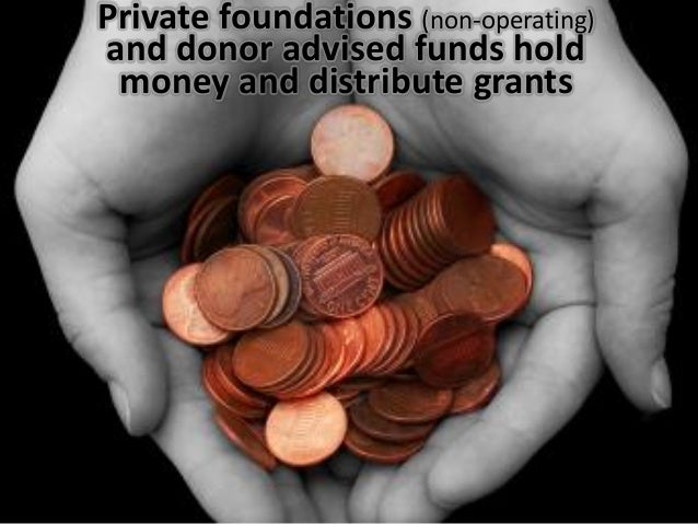 Private foundations Slide 3