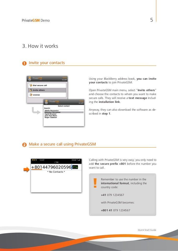 PrivateGSM Demo                                                                      53. How it works1   Invite your conta...