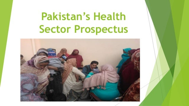 Pakistan's Health Sector Prospectus