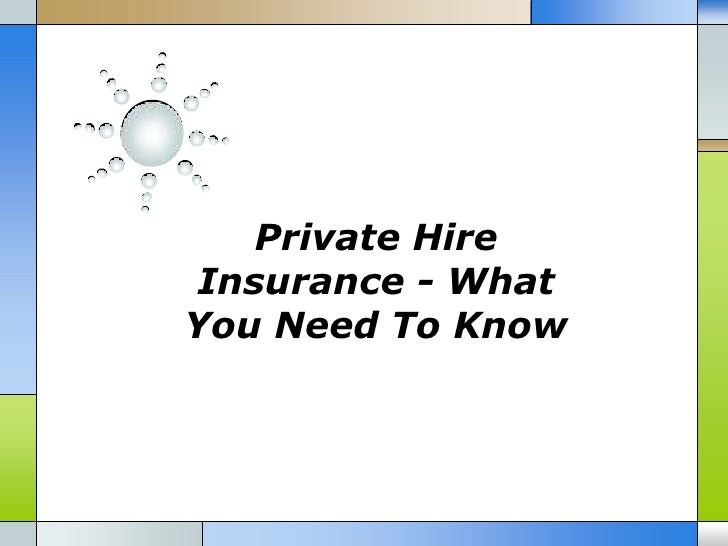 Private HireInsurance - WhatYou Need To Know