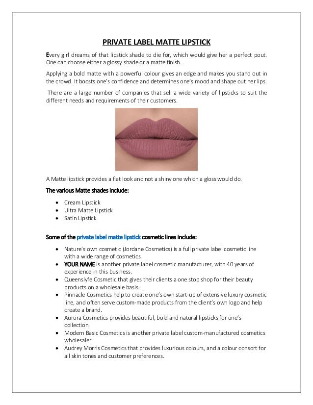 Private Label Lipstick Manufacturer