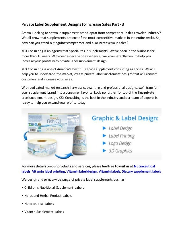 Private Label Supplement Designs to Increase Sales Part - 3