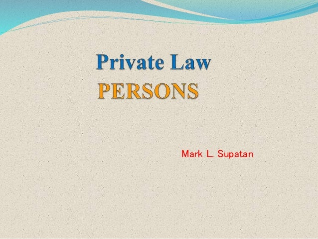 private law