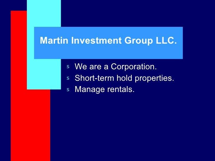 Martin Investment Properties Llc