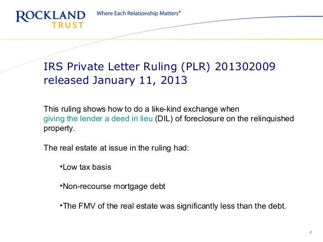 Private Letter Ruling (PLR) 201302009