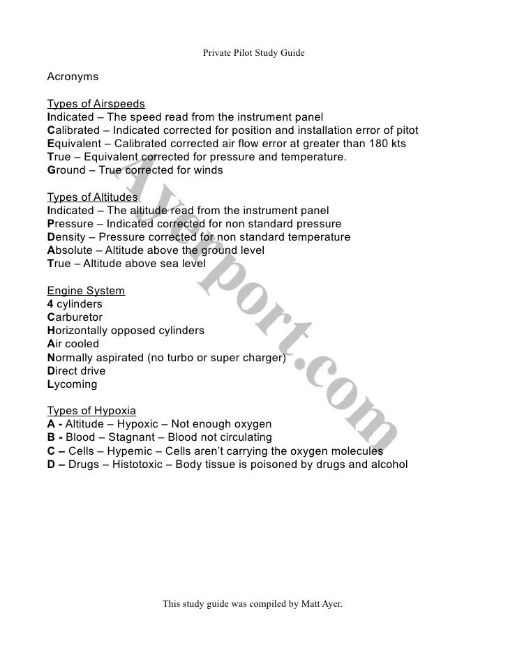 private pilot study guide rh slideshare net private pilot faa practical test study guide pdf private pilot study guide free