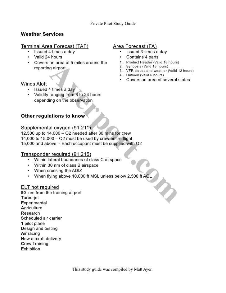 private pilot study guide rh slideshare net private pilot study guide quizlet private pilot study guide quizlet
