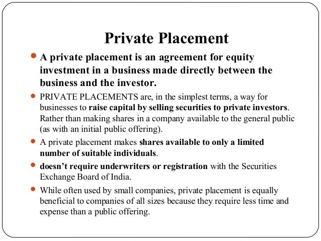 Best firm for private placement ipo