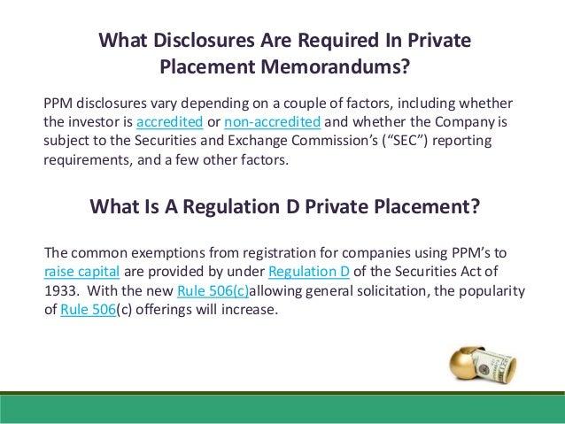 Private Placement Memorandum Q & A