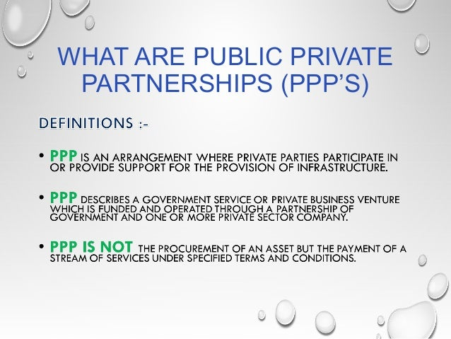 private public partnership ppp in hospitals We invest in, develop and operate roads, hospitals, schools, airports and other   public-private partnership is a form of public procurement in which a project.