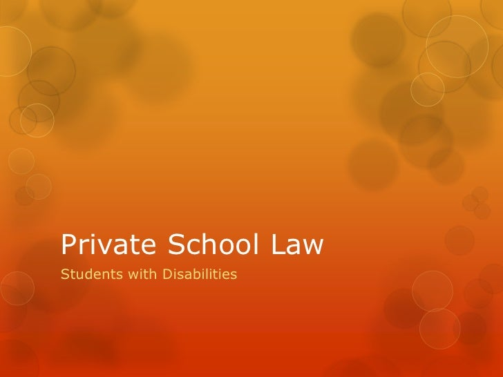Private School LawStudents with Disabilities