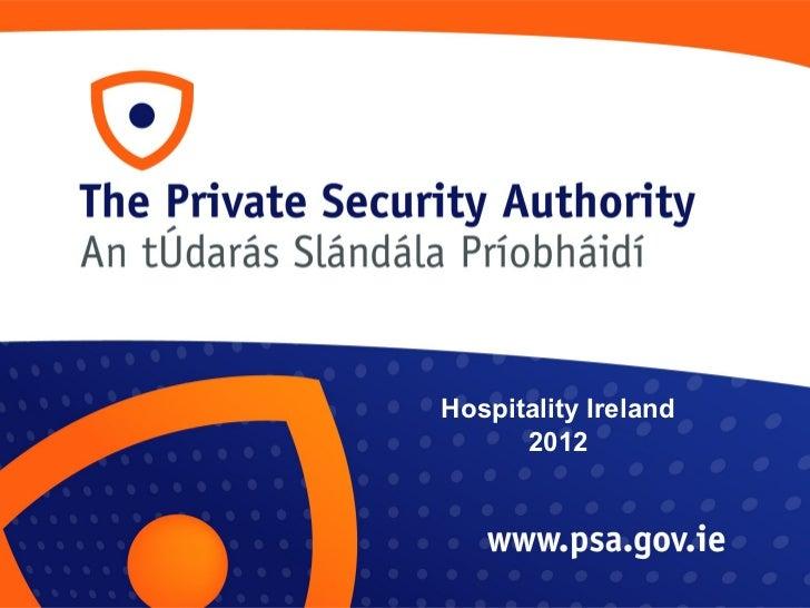 Hospitality Ireland 2012