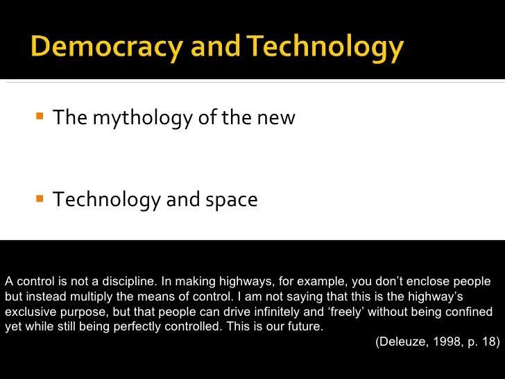 <ul><li>The mythology of the new </li></ul><ul><li>Technology and space </li></ul><ul><li>Public and private  </li></ul><u...