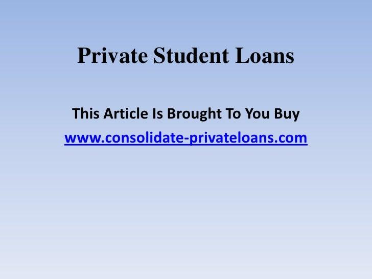 Private Student Loans >> Private Student Loans