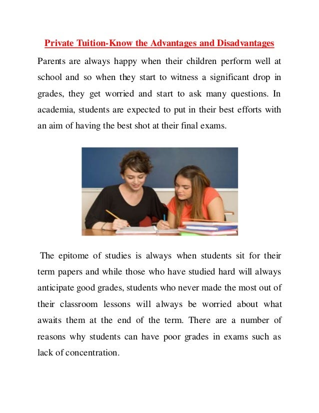 advantages and disadvantages of private tuition essay
