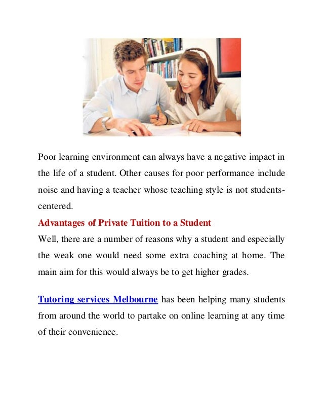 advantages private tuition - essay