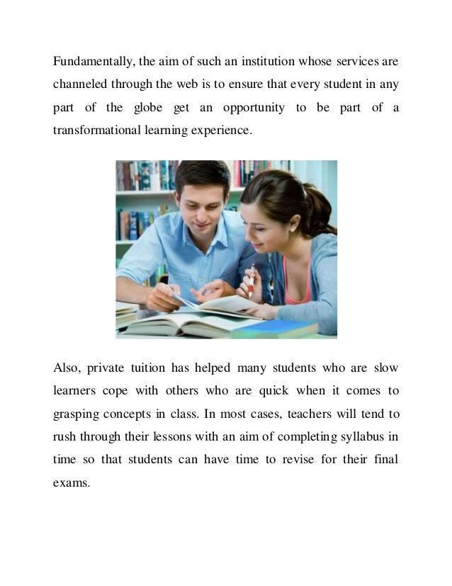 Advantages private tuition essay