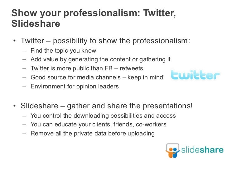 Private Vs Professional In Social Media